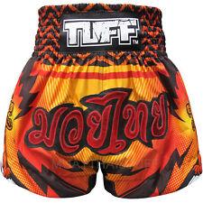Tuff Muay Thai Boxing Shorts Blue Orange Pink Red White Mma Training Trunks 6D
