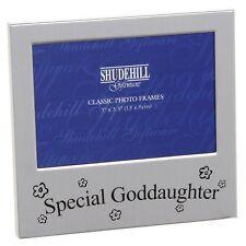 Special Goddaughter Satin silver photo frame-shudehill Giftware