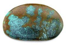 120.22 Carat Spiderweb Blue Brown Turquoise Cab Cabochon Gem Stone Gemstone TA90