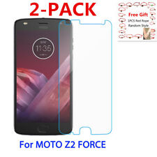[2-PACK] For Motorola Z2 Force Tempered Glass Screen Protector Guard Cover Saver