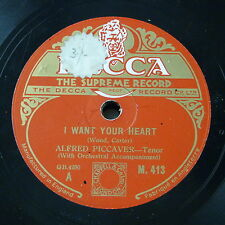 78rpm ALFRED PICCAVER i want your heart / bird songs at eventide