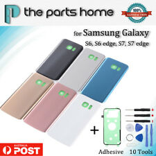New Back Rear Battery Glass Door Cover Housing Case Samsung S6 S7 Edge +Adhesive