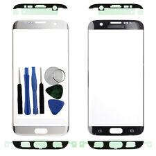 Por Samsung Galaxy S7 Edge G935F Front Outer Vaso Pantalla Plata Adhesivo Tools