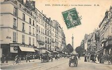 CPA 75 PARIS IVe LA RUE SAINT ANTOINE