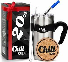 Insulated Travel Coffee Thermal Mug - 20 oz Double Wall Vacuum Stainless Steel