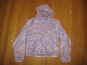 Nike women's purple running jacket w/ hood Medium 100% nylon windbreaker