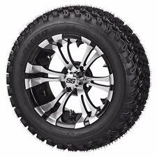 "Club Car Precedent 6"" Lift Kit + 14x7 Type 12 Wheels + 23"" Black Trail Tires"