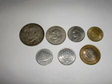 -REPUBLIC OF INDIA- 7  RARE  COINS OF MAHATMA GANDHI -ONE BIG SILVER COIN-RS.10