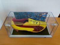Fußballschuh getragen + signiert von Vedad Ibisevic Hoffenheim Matchworn Fußball