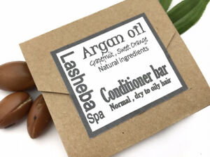 ARGAN OIL HAIR CONDITIONER BAR -SHEA BUTTER-COCOA BUTTER-LEAVE IN CONDITIONER