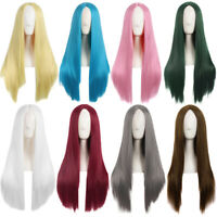 75cm Long Straight Synthetic Hair Full Wig Heat Resistant Anime Cosplay Wigs