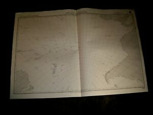 British Admiralty Chart 5098 SOUTH PACIFIC & SOUTHERN OCEANS GNOMONIC CHART