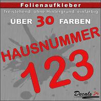 HN11 - Hausnummer Türschild Aufkleber  - Schild/Briefkasten/Nummern/Straße