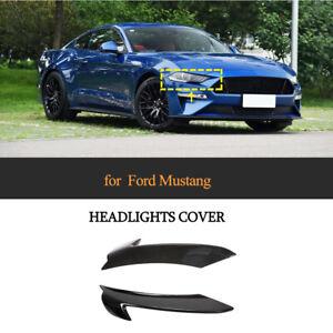Carbon Fiber Front Scheinwerfer Lower Cover Trim Passt für Ford Mustang 2018-20