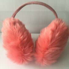 Melon Red Womens Classic Ear Cover Winter Plush Fuzzy Faux Fur Warm Big Earmuff