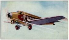 Wibault 282T-12  France Airlines Passenger Plane 1930s Ad Trade Card