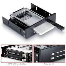 Dual Bay 2.5inch SATA SSD HDD Hard Drive Enclosure Tray Mobile Rack Mystic
