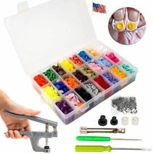 360 Set DIY Craft KAM Snaps T5 Snap Starter Plastic Poppers Fasteners + Pliers
