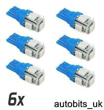 6X LED 5 SMD 5W W5W T10 501 LED SIDE LIGHT INTERIOR BULB HID XENON BLUE NEW
