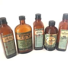 Pharmacy Glass Apothecary Medicine Bottles for Vintage Collectible Pharmacist