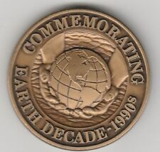*(T) Token - Commemorating Earth Decade - 1990's - 38 MM Bronze