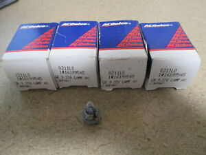 Lot of 4 ACDelco HVAC Control Light Bulb 16199545 NOS Chevy Cadillac GMC Trucks
