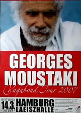 MOUSTAKI, GEORGES - 2007 - Konzertplakat - Vagabond - Tourposter