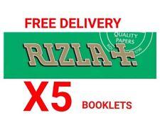 5x Rizla Green Medium Thin Cigarette Rolling Papers 100% Genuine Rizzla