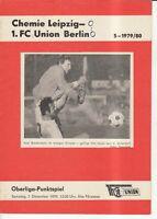 OL 79/80 1. FC Union Berlin - BSG Chemie Leipzig