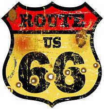PREMIUM Autoaufkleber Route 66 USA Vintage US Sticker Aufkleber Auto Motorrad
