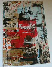 MR BRAINWASH TOMATO SPRAY / KATE MOSS EVENT / PROMO CARD FROM ARTSHOW 2011 RARE