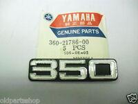 Yamaha RD350 Side Cover Badge NOS Genuine Emblem 360-21786 RD 350 1973-1975