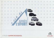 Catalogue prospekt brochure Citroën série spéciale Rossignol 2011 FR