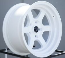 15x8 Rota GRID V 5x114.3 +0 White Wheels (Set of 4)