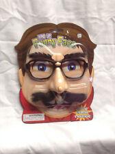 NEW Wind Up Funny Face Wiggles Eyebrows & Moustache Fun Joke Prank