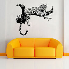 Leopard Wall Decal Sticker Kid Gift Sticker  Home Animal Room Decor Black Color