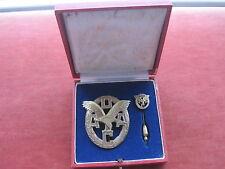ADAC Abzeichen in bronze mit Miniatur im Etui