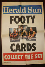 2005 AFL Herald Sun Footy Cards Newspaper Football poster Select