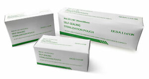 BOX OF 200 MEDICAL DENTAL AUTOCLAVE STERILISE POUCHES - CHOOSE SIZE!