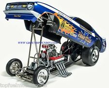 NEW! 1971 Harry Schmidt's FLAMED BLUE MAX NHRA Mustang Funny Car 1/18 AW1171