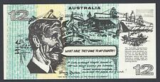 Australia Political Funny money 12 Dollars Government of Inflation Uncirculated