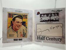 2020 Historic Autographs Half Century Johnny Vergez Cut Auto