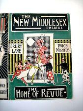 "1918 Theatre Program ""The New Hiddlesex Thratre"" London ""Zig-Zag"" *"