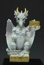 Drache weiß, Kerzenhalter 16 cm hoch, Fantasy Figur