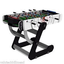 Riley VR-90 4 piedi pieghevole Tavolo di calcio in Nero/Bianco