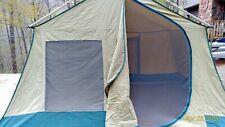 Vintage Hillary Tent Canvas  9 x10  Peaked 70s