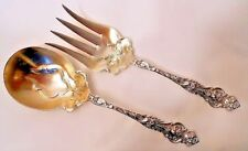 A sterling salad serving set, 2 pcs, Irian pattern, by Wallace.