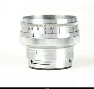 Lens Zeiss Opton Sonnar 2/50mm Red T For Camera Rangefinder Contax IIa IIIa