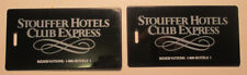 2 Vintage Stouffer Hotels Club Express Luggage Tags