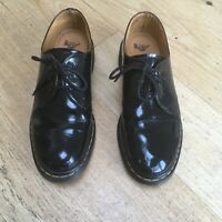 DR MARTENS Shoes Patent Leather Black UK Size 8